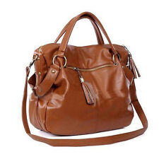 Fashion Handbag Lady Shoulder Bag Tote Purse PU Leather Women Messenger Brown US