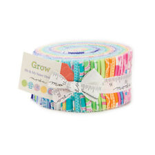 "Moda FABRIC Jelly Roll ~ GROW ~ by Me & My Sister 40 - 2.5"" strips"