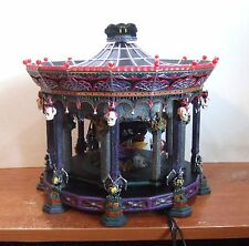 Dept 56 Halloween Ghostly Carousel #55317 Sound Motion Lights NIB (SLF)