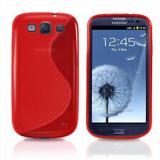 HOUSSE ETUI COQUE SILICONE GEL ROUGE SAMSUNG GALAXY S3