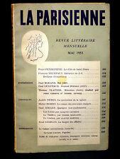 LA PARISIENNE - REVUE LITTÉRAIRE MENSUELLE - MAI 1958 - N° 28