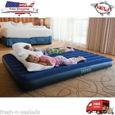Queen Airbed Inflatable Mattress Intex Classic Downy Air Bed In-Outdoor Camping