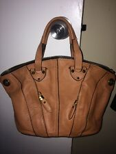 Genuine Oryany Brown 100% Leather, Hand Bag, Shoulder Strap Included...