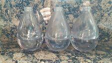 Art Glass Tear Drop Bottle Lot (3) Heavy with screw top