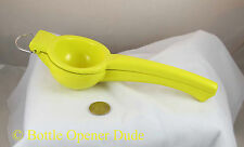 Yellow Lemon Squeezer, Aluminum w/ Baked On Enamel Coating, Dishwasher Safe New!