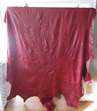 LEATHER UPHOLSTERY Cow Hide ANTIQUE RED Nice Quality Soft