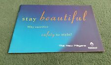 1999 RENAULT MEGANE STAY BEAUTIFUL UK BROCHURE Hatch Coupe Cabriolet Classic