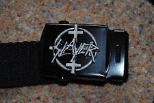 SLAYER 4 cruces web Insignia Hebilla Cinturón Nuevo embolsado oficial REIGN en sangre Thrash