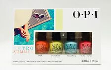 OPI Nail Polish Color Mini RETRO SUMMER ~ 4 MINI Bottles ~
