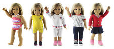 """5 Set Doll Clothes For 18""""American Girl Doll Handmade Casual Wear Clothes"""