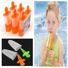 6 Cell Frozen Ice Cream DIY Pop Mold Popsicle Maker Lolly Mould Tray Pan Kitchen