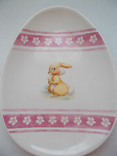 """Disney Store Ceramic Collectible Plate Dish Bunny Thumper Egg Shaped 8""""x10"""" NEW"""