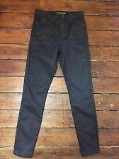 Topshop Moto Skinny Jeans Coated Jamie Black Sz 8 W26 To fit L30   85#