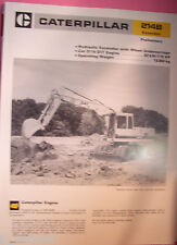 ✪altes original Prospekt INFO Sales Brochure CAT Caterpillar 214B Excavator