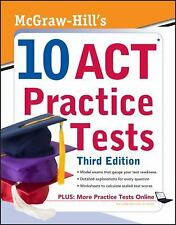 McGraw-Hill's 10 ACT Practice Tests, Third Edition, Dulan, Steven, Good Book