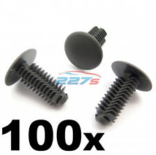 100x Plástico abeto Trim Clips - 8 Mm Orificio, 18 mm de cabeza, Gris Oscuro-Perfecto Para Vw