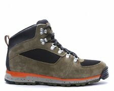 TIMBERLAND Men's NEW GT SCRAMBLE MID Dark OLIVE BLACK ORANGE BOOTS SIZE 9 43