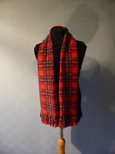 Red Tartan Scarf small for adult or child In Royal Stewart Tartan, kid's scarf