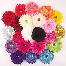 10x Assorted LARGE Gerbera Hair Clips with Pin and Bobble! Wholesale Job Lot