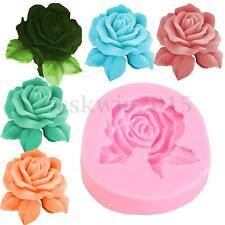3D Rose Flower Silicone Cake Mould Candle Soap Fondant Sugarcraft Decor Mold