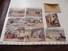 Vintage Postcard set: ST IVES Cornwall 8 cards in pack w Art by LEONARD RICHMOND