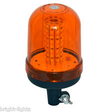 12v-24v AMBER FLASHING POLE DIN MOUNTED BEACON REVOLVING WARNING RECOVERY LIGHT