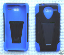 Motorola Razr i XT890 Phone Cover Case NP BLUE/BLACK Tstand