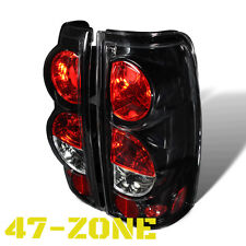 For Chevy Silverado GMC Sierra Altezza Black Housing Clear Lens Tail Light Lamp