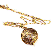 1pcs Tree of Life Magnifier New Plated Crystal Sweater Chain Statement Necklaces