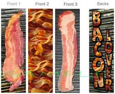 3-BACON Lover BOOKMARK Slice Perfect Gift Art Book Card for Cooks Ornament Food