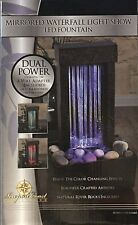 Water Fountain Mirrored Waterfall Light Show Indoor Feature LED  NIB