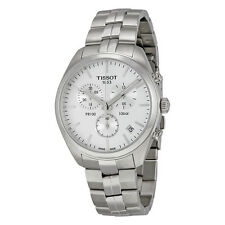 Tissot PR 100 Chronograph White Dial Stainless Steel Mens Watch T1014171103100