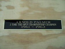Arnold Palmer The Open 2X Champ Nameplate for a Golf Flag Display Case 1.5 X 8