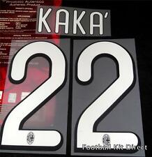 AC Milan Kaka 22 2009/10 Football Shirt Name Set Kit Home player size