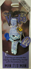 Collectable Voodoo Doll Charm Key Chain, String Dolls,MAN FLU MAN / NEW