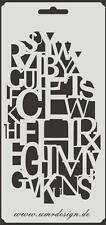Scrapbooking Schablone S-163  Buchstaben ~ Stencil ~ UMR-Design