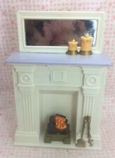Vintage Fisher Price Loving Family Dollhouse LIVING ROOM FIREPLACE Fire Place