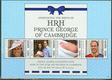 UGANDA  2013 THE BIRTH OF PRINCE GEORGE SHEET WITH KATE & WILLIAM  MINT NH