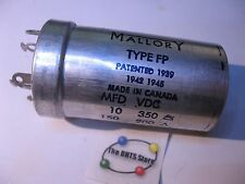 Electrolytic Capacitor 2 sect 10,150uF 350,200VDC Mallory Type FP 124495-12 DED1
