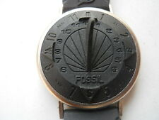 Sundial Fossil black silicon/rubber band wrist watch.SD-7624