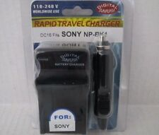 SONY NP-BK1 Wall & Car Charger by Digital Sunflash - Black