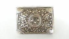 Antique Russian silver 84 Zolotnik match box vesta case & buckle Hallmarked
