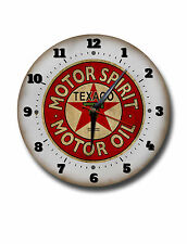"TEXACO MOTOR OIL 250MM/10"" DIAMETER METAL WALL CLOCK,GARAGE CLOCK.WORKSHOP CLOCK"