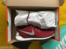 New Nike Mens Free 5.0 Flash Run Running Shoes 685168-600 sz 10.5 Red Reflective