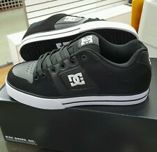 DC PURE 300660 Black/White NUBUCK LEATHER SKATE MEN'S US SZ 10