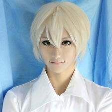 Hot Sell! Axis Powers Hetalia Aph Russia Ivan Light Gold Short Party Cosplay Wig