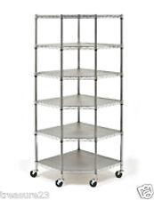Heavy Duty Wire Steel 6-Tier Corner Shelf Garage Storage Shelving Rack