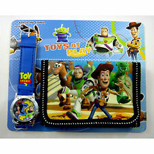 Toy Story Buzz & Woody Children's Kids Boys Girls Watch Wallet Set Christmas
