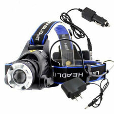 4000LM 12W XML T6 LED Head Torch 18650 Headlamp Zoomable Headlight + AC Charger