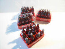 12 DOLLS HOUSE MINIATURE BOTTLES OF COKE IN CRATE